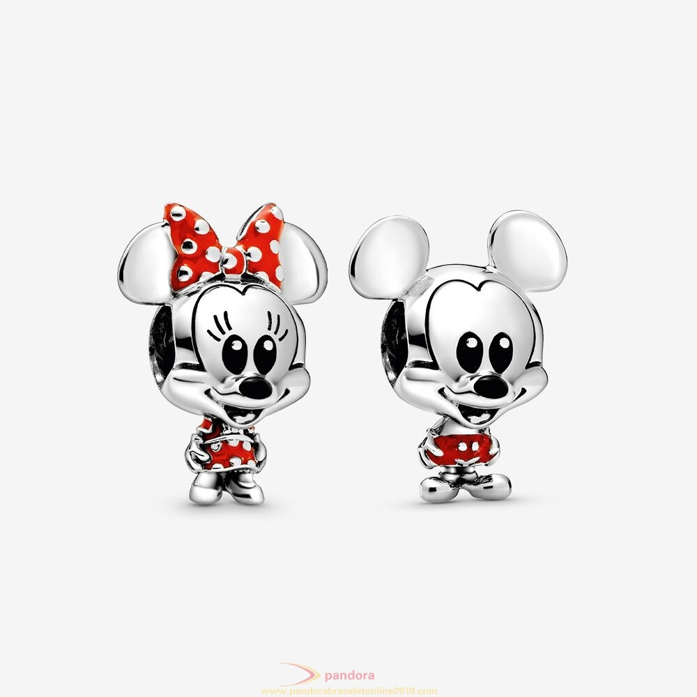 Find Pandora Jewelry Disney Mickey And Minnie Mouse Charm Set