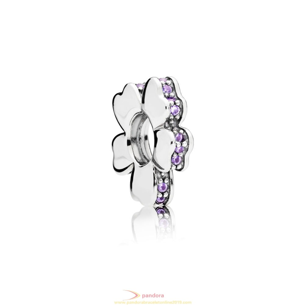 Find Pandora Jewelry Purple Wildflower Meadow Spacer Charm