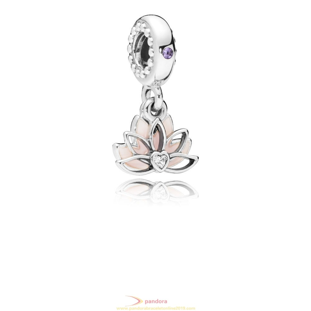 Find Pandora Jewelry Serene Lotus Flower Hanging Charm