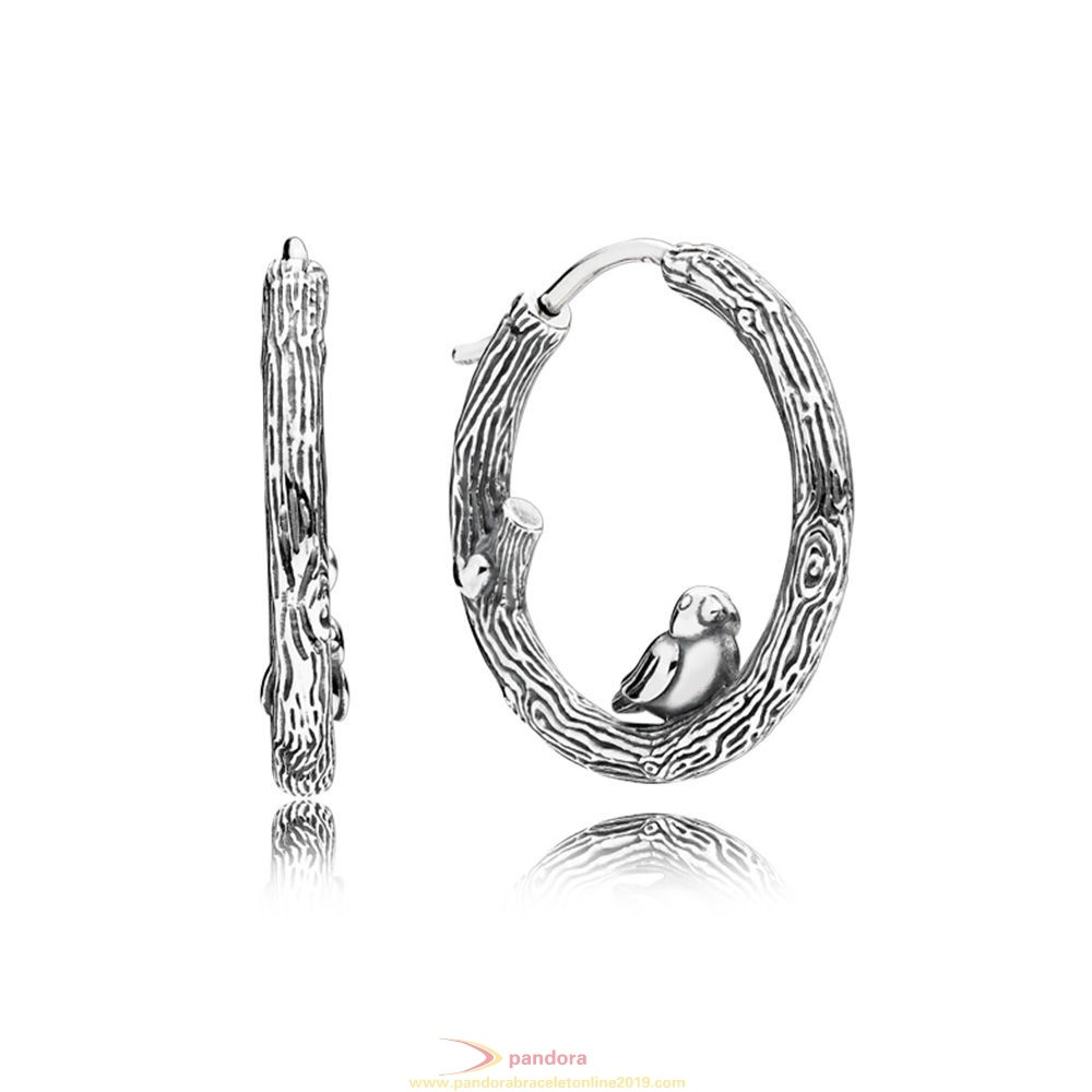 Find Pandora Jewelry Spring Bird Earring Hoops