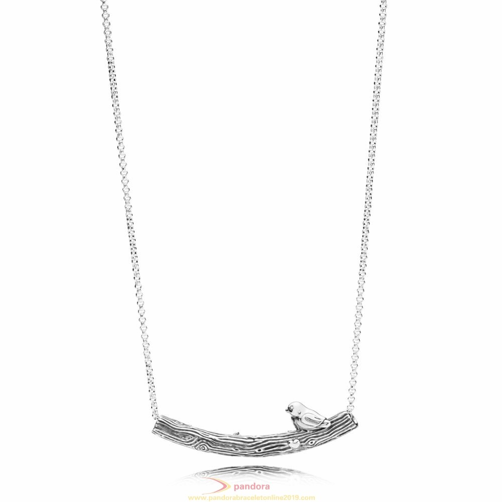 Find Pandora Jewelry Spring Bird Necklace