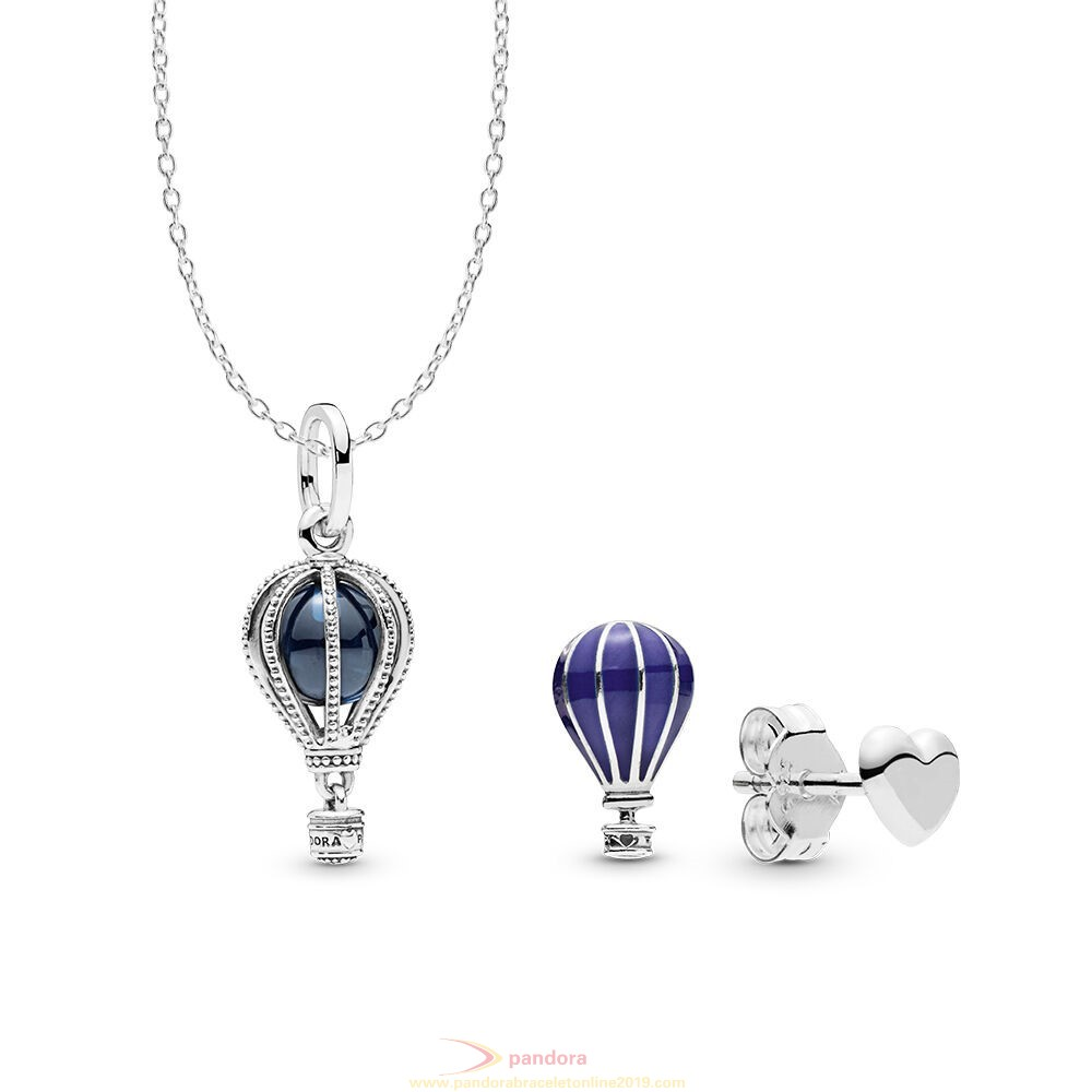 Find Pandora Jewelry Air Balloon Necklace And Earring Set