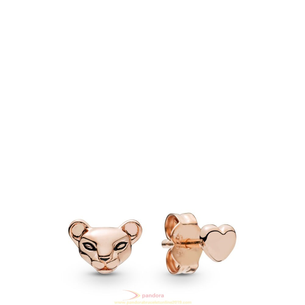 Find Pandora Jewelry Lion Princess & Heart Stud Earrings, Pandora Rose™