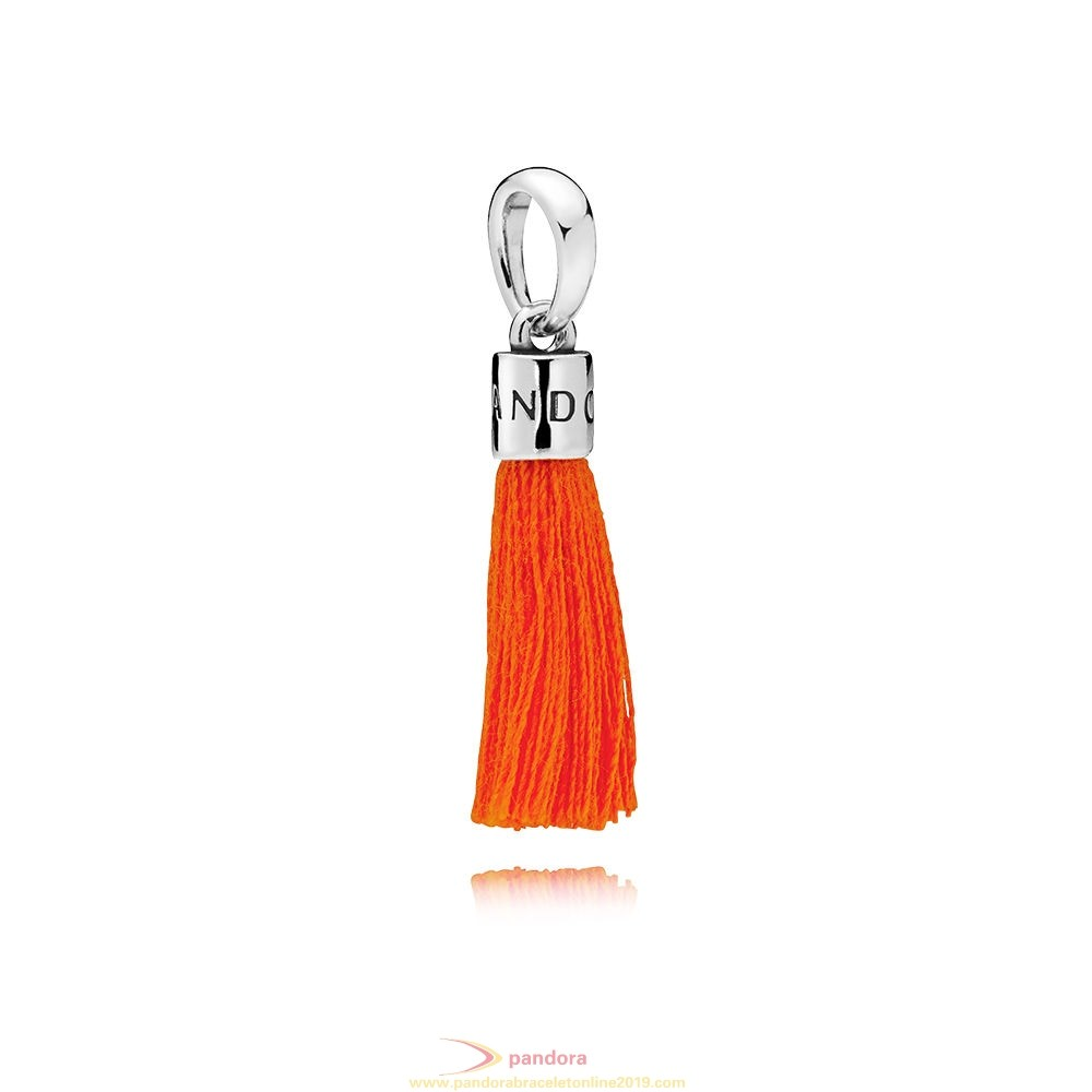Find Pandora Jewelry Orange Fabric Tassel Dangle Charm