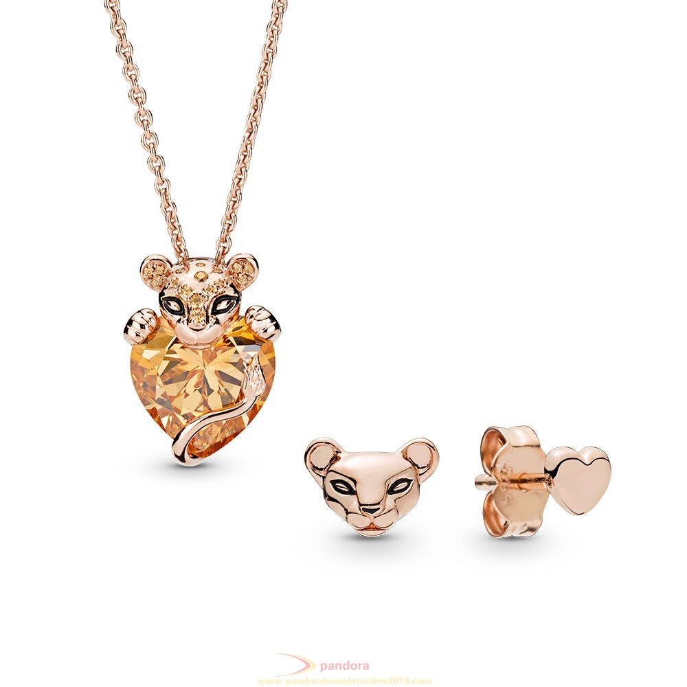 Find Pandora Jewelry Pandora Rose Lioness Necklace And Earrings Gift Set