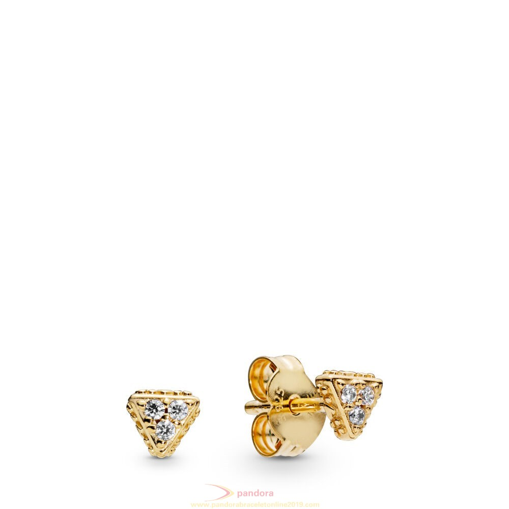 Find Pandora Jewelry Sparkling Triangles Stud Earrings, Pandora Shine™