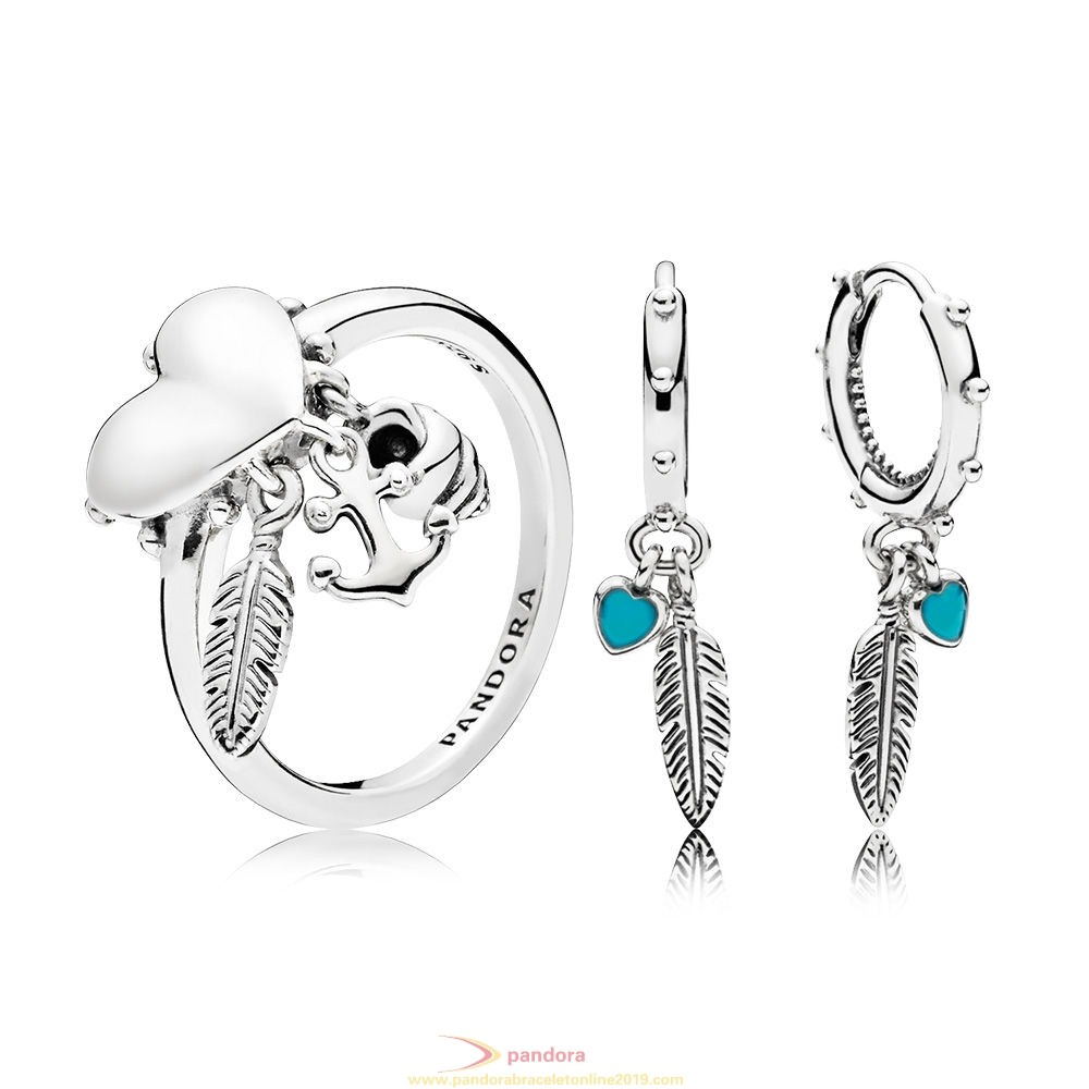 Find Pandora Jewelry Spritual Symbols Ring And Earring Set