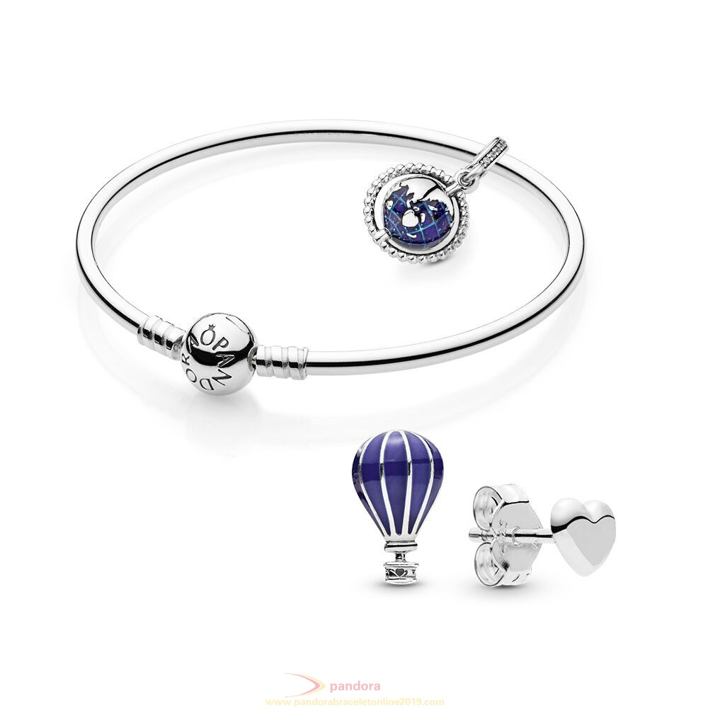 Find Pandora Jewelry Travel The Globe Bracelet And Earring Set
