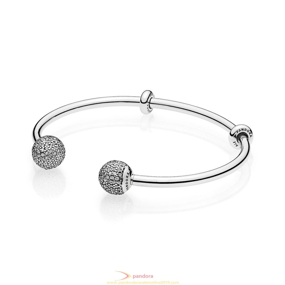 Find Pandora Jewelry Pandora Bracelets Open Bangle Bracelet Clear Cz