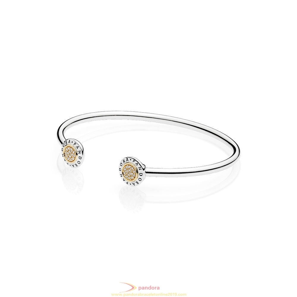 Find Pandora Jewelry Pandora Bracelets Open Banglepandora Signature Bangle Bracelet