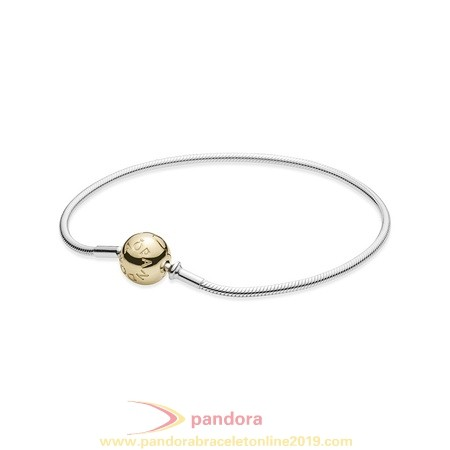 Find Pandora Jewelry Pandora Essence Collection Sterling Silver Bracelet With 14K Gold Clasp
