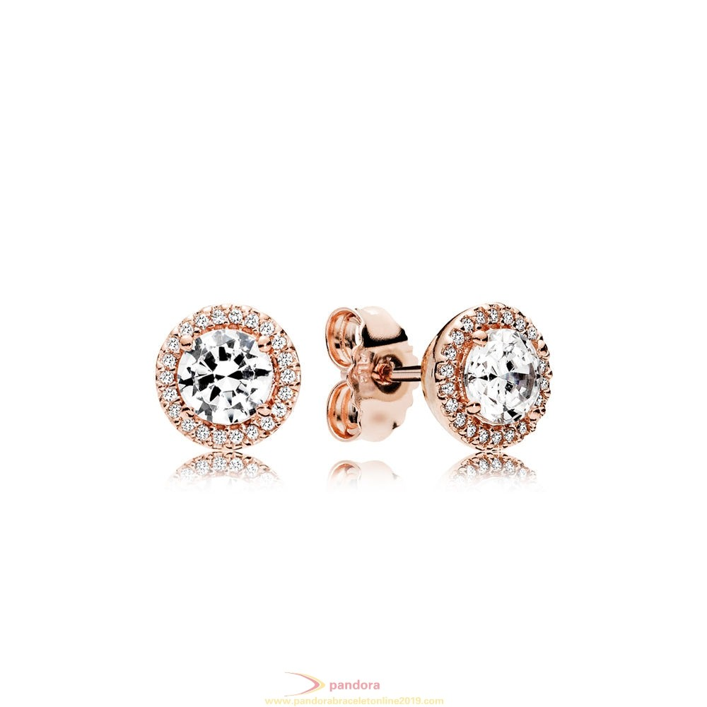 Find Pandora Jewelry Pandora Earrings Classic Elegance Stud Earrings Pandora Rose Clear Cz