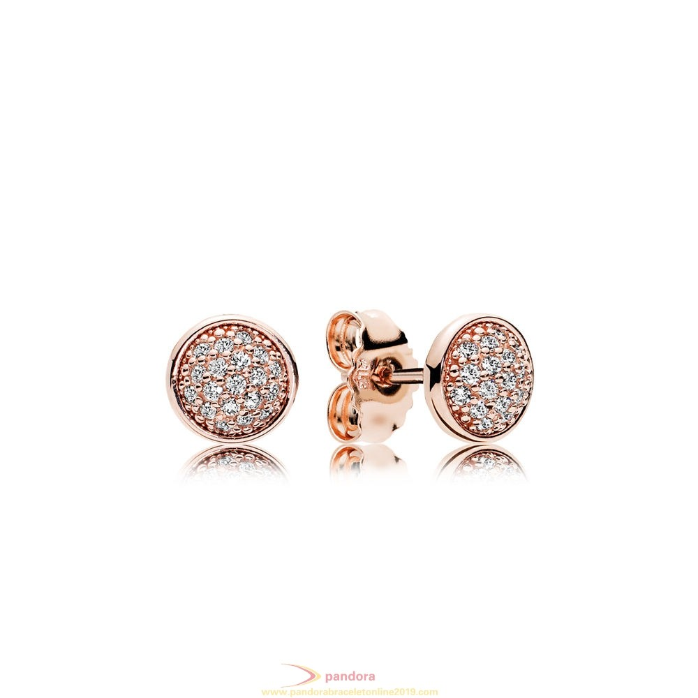 Find Pandora Jewelry Pandora Earrings Dazzling Droplets Stud Earrings Pandora Rose Clear Cz