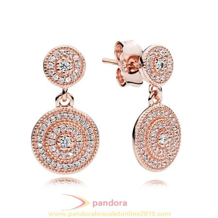 Find Pandora Jewelry Pandora Earrings Radiant Elegance Drop Earrings Pandora Rose Clear Cz