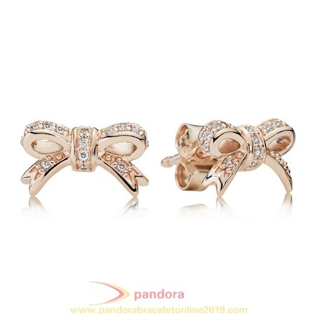 Find Pandora Jewelry Pandora Earrings Sparkling Bow Stud Earrings Pandora Rose Cz