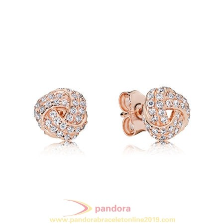 Find Pandora Jewelry Pandora Earrings Sparkling Love Knot Stud Earrings Pandora Rose Clear Cz