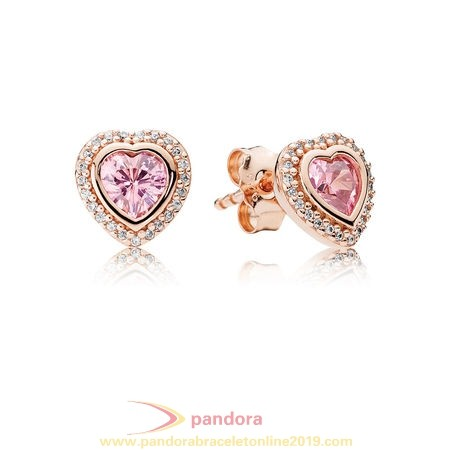 Find Pandora Jewelry Pandora Earrings Sparkling Love Stud Earrings Pandora Rose Pink Clear Cz