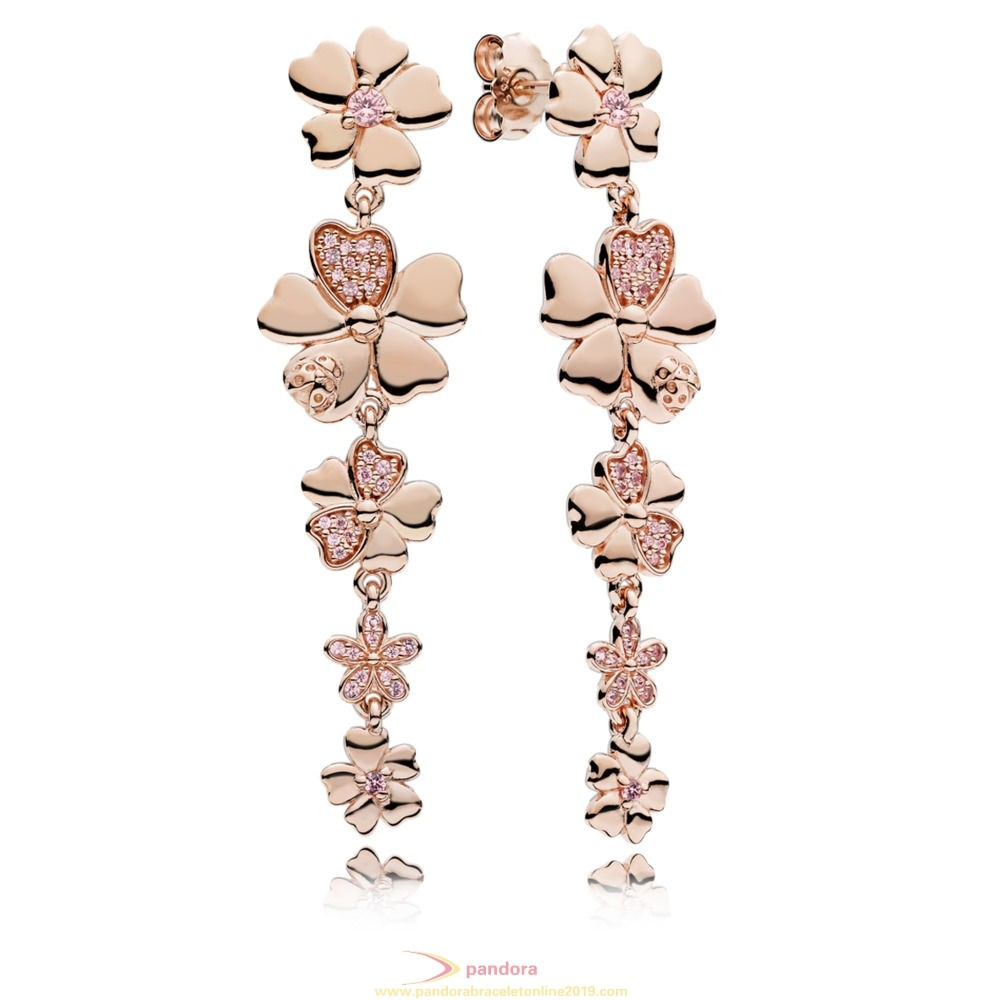 Find Pandora Jewelry Pandora Rose Wildflower Meadow Hanging Earrings