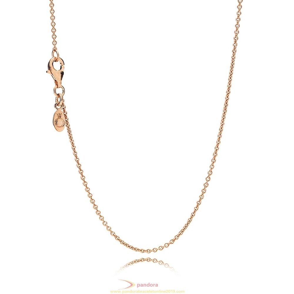 Find Pandora Jewelry Pandora Rose Necklace Chain Sterling Silver 14K Rose Gold