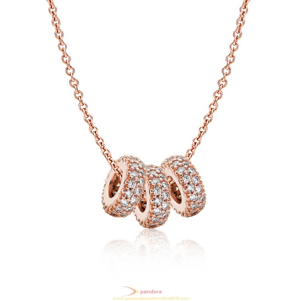 Find Pandora Jewelry Pandora Rose Pave Spacer Necklaces