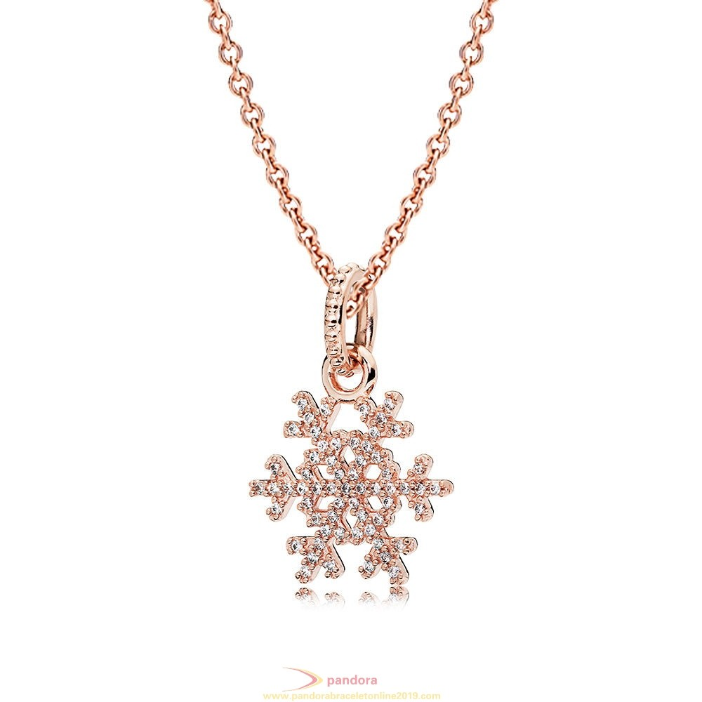 Find Pandora Jewelry Pandora Rose Sparkling Snowflake Necklace