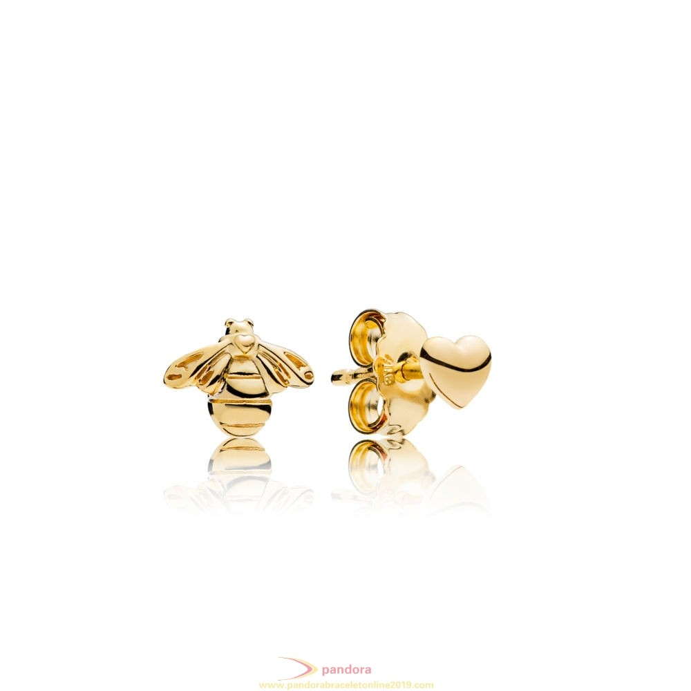 Find Pandora Jewelry Bee And Heart Earring Studs