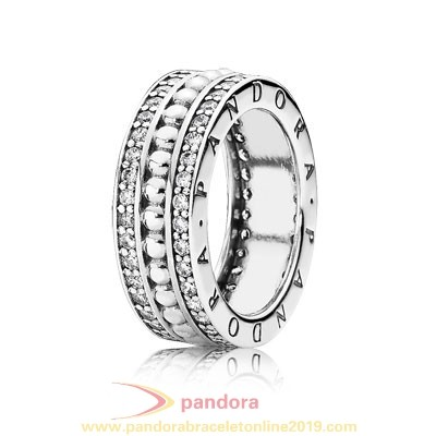 Find Pandora Jewelry Pandora Signature Pandora Forever With Clear Cz 925 Silver Circle Ring