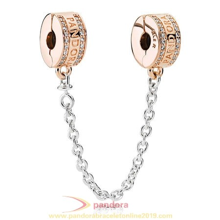 Find Pandora Jewelry Pandora Signature Pandora Insignia Safety Chain Pandora Rose Clear Cz