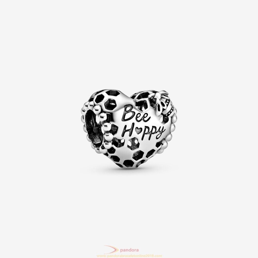 Find Pandora Jewelry Bee Happy Honeycomb Heart Charm