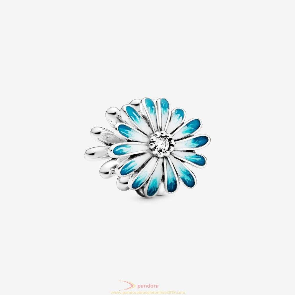 Find Pandora Jewelry Blue Daisy Flower Charm