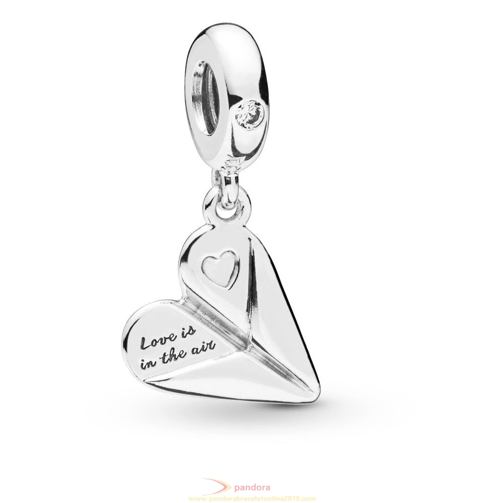 Find Pandora Jewelry Heart Paper Plane Hanging Charm