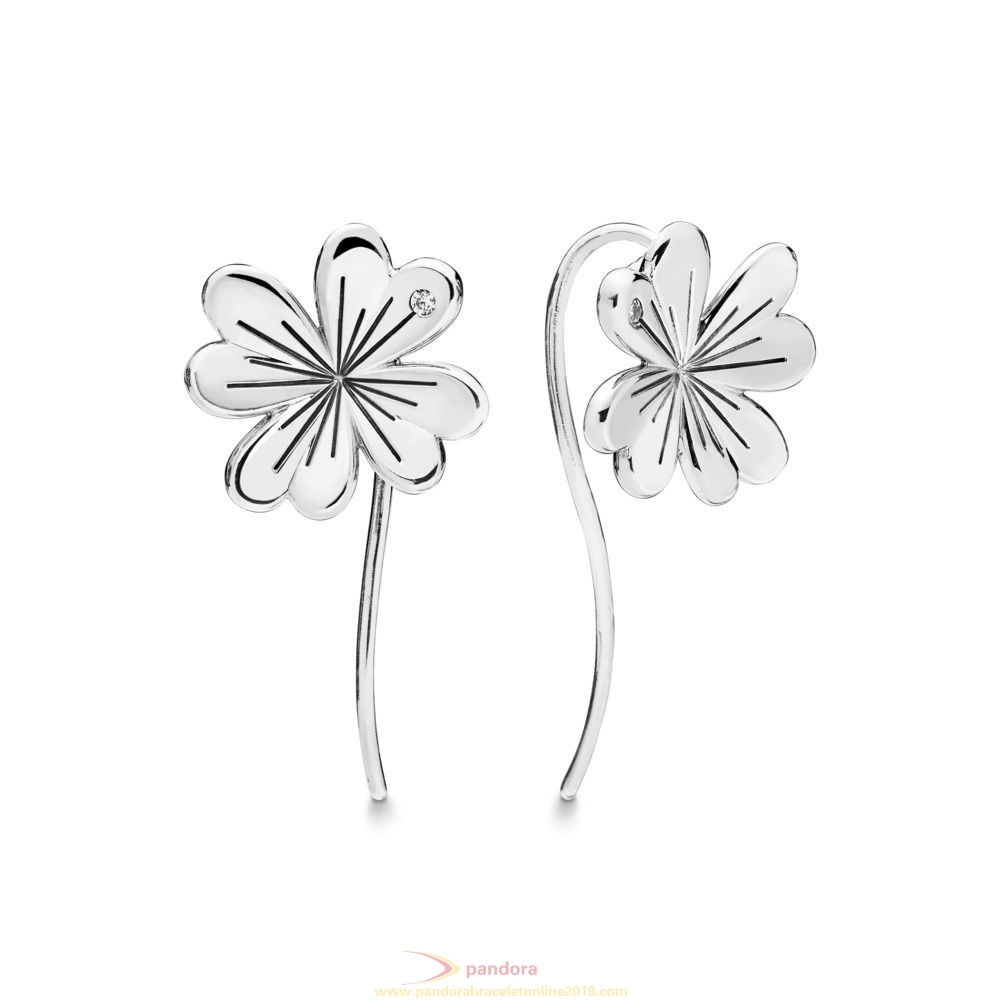 Find Pandora Jewelry Lucky Four Leaf Clovers Hanging Earrings