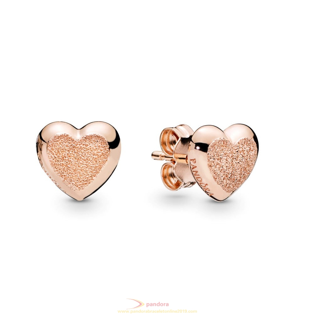 Find Pandora Jewelry Matte Brilliance Hearts Earrings, Pandora Rose™