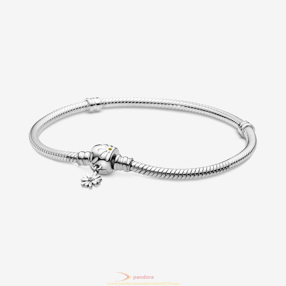 Find Pandora Jewelry Pandora Moments Snake Chain Bracelet With Daisy Flower Clasp