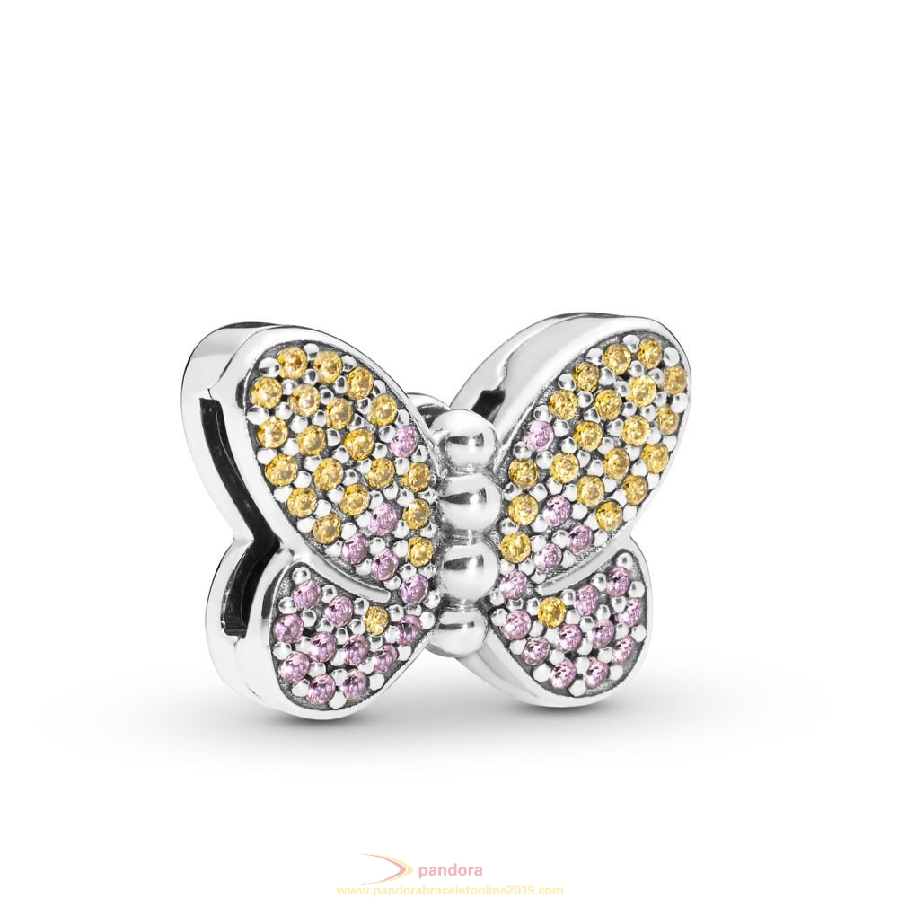 Find Pandora Jewelry Pandora Reflexions Bedazzling Butterfly Clip Charm