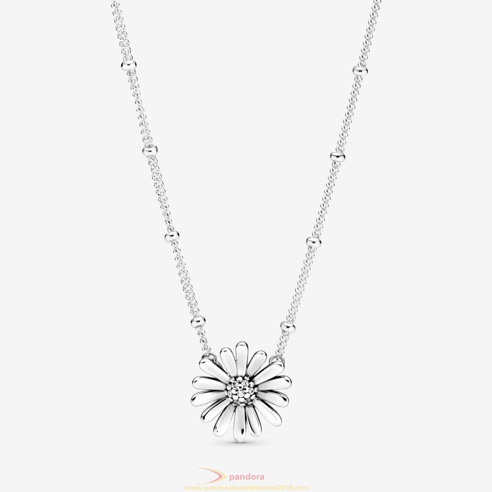 Find Pandora Jewelry Pavé Daisy Flower Collier Necklace