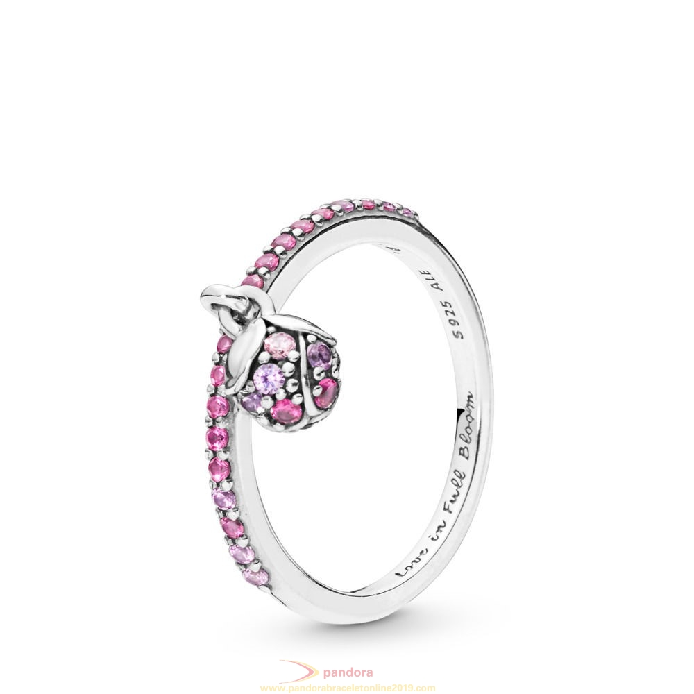 Find Pandora Jewelry Peach Blossom Flower Bud Ring