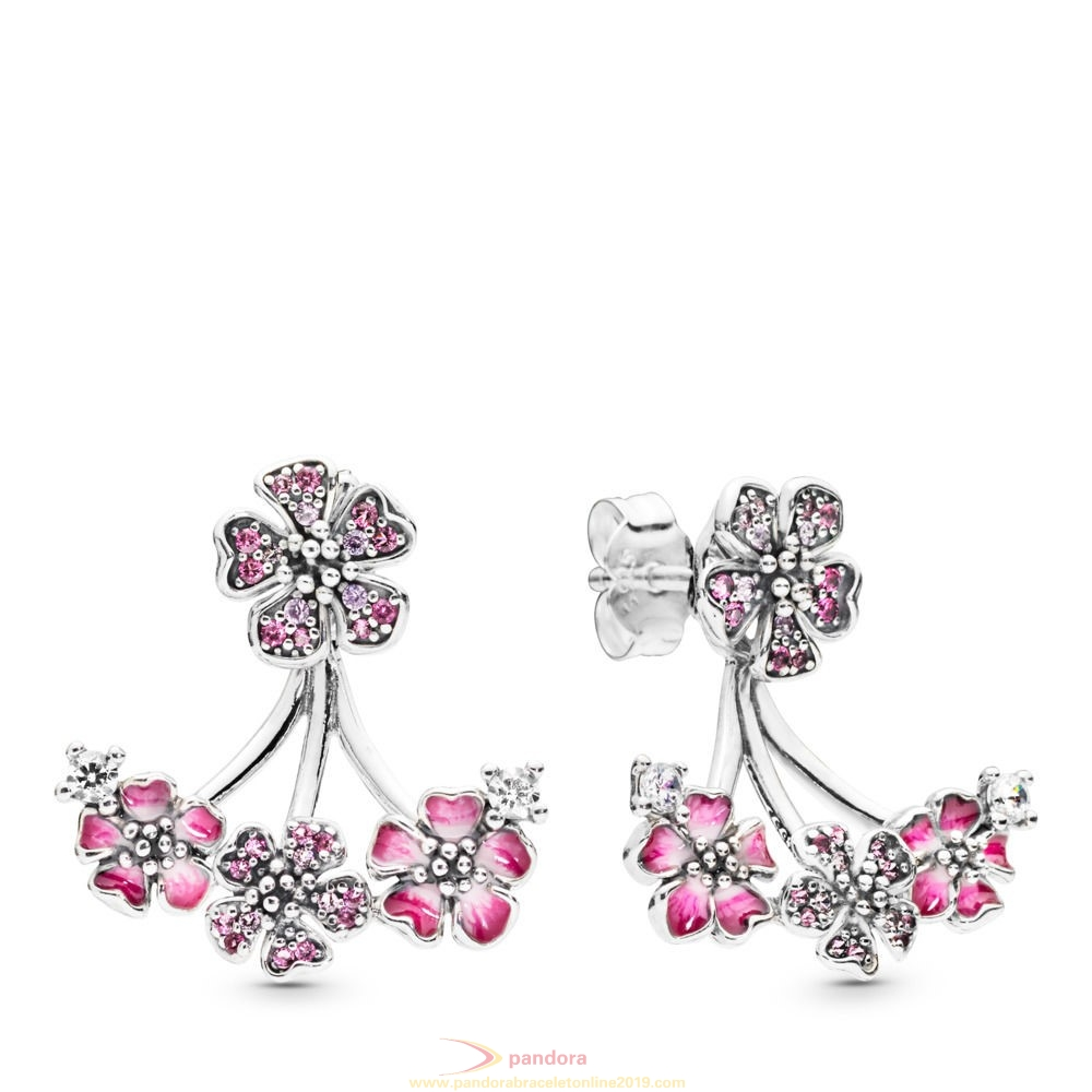Find Pandora Jewelry Peach Blossom Flowers Earrings
