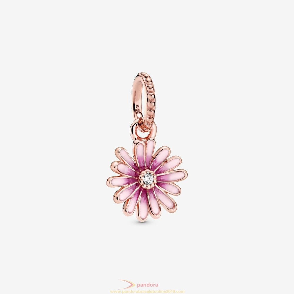Find Pandora Jewelry Pink Daisy Flower Dangle Charm