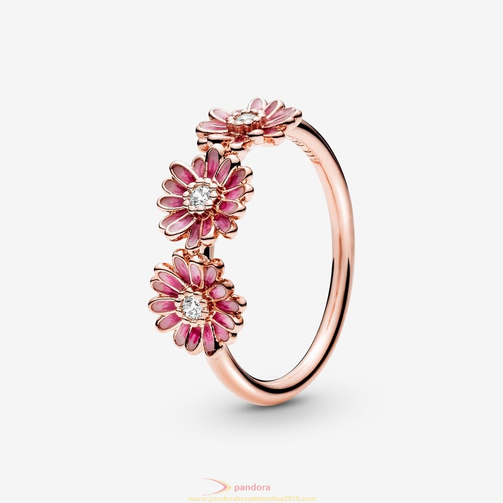 Find Pandora Jewelry Pink Daisy Flower Trio Ring