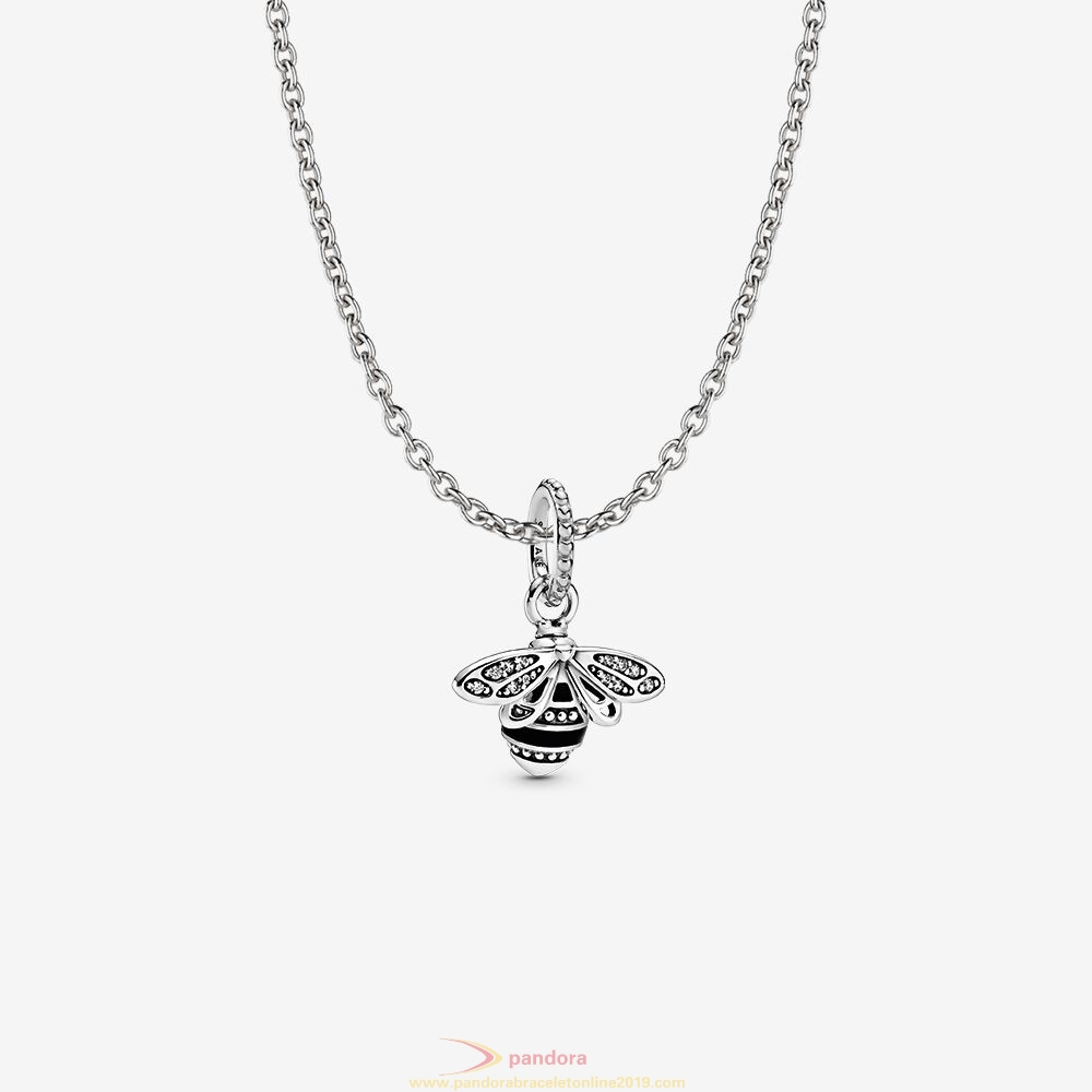 Find Pandora Jewelry Sparkling Queen Bee Necklace Set