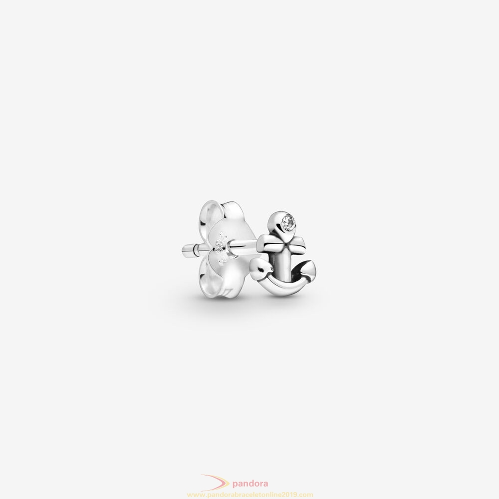 Find Pandora Jewelry My Anchor Single Stud Earring