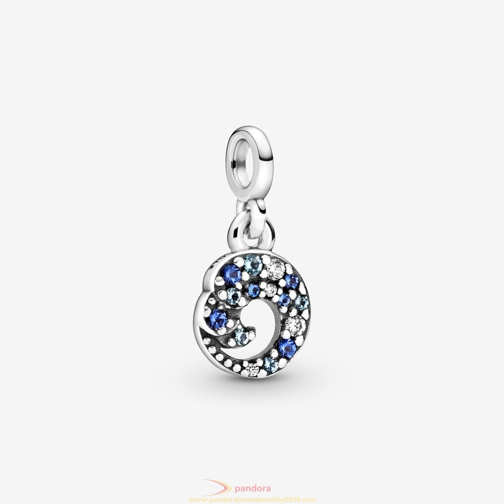 Find Pandora Jewelry My Blue Ocean Wave Dangle Charm
