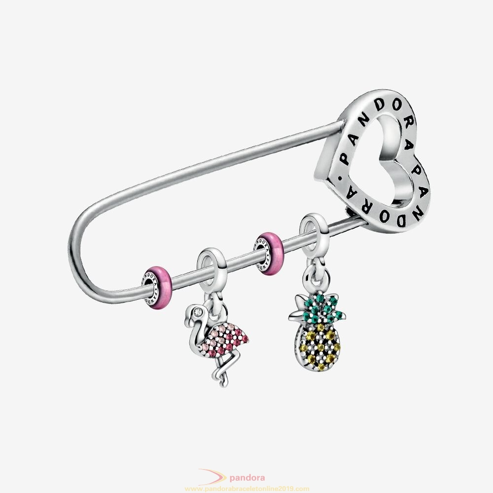 Find Pandora Jewelry Symbols Of Summer Brooch & Charms Set