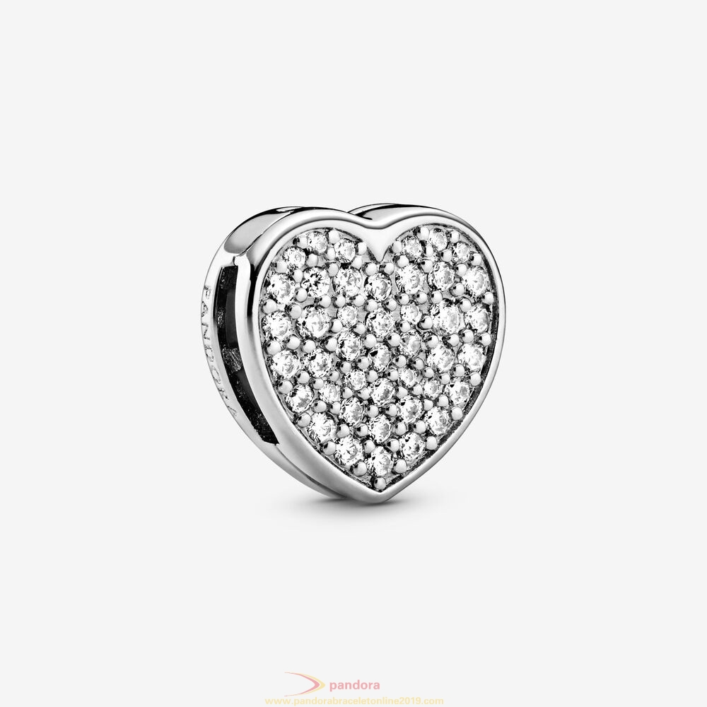 Find Pandora Jewelry Pavement Heart Clip Charm