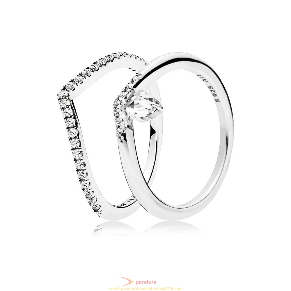 Find Pandora Jewelry Shimmering Classic Wish Ring Stack