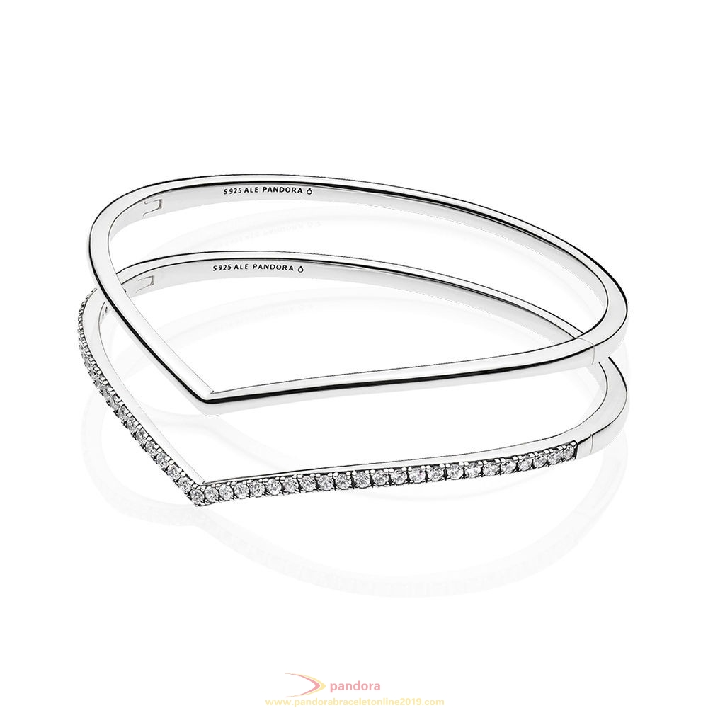 Find Pandora Jewelry Shimmering Wish Bangle Stack