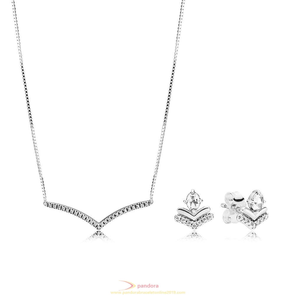 Find Pandora Jewelry Shimmering Wish Necklace And Earring Set