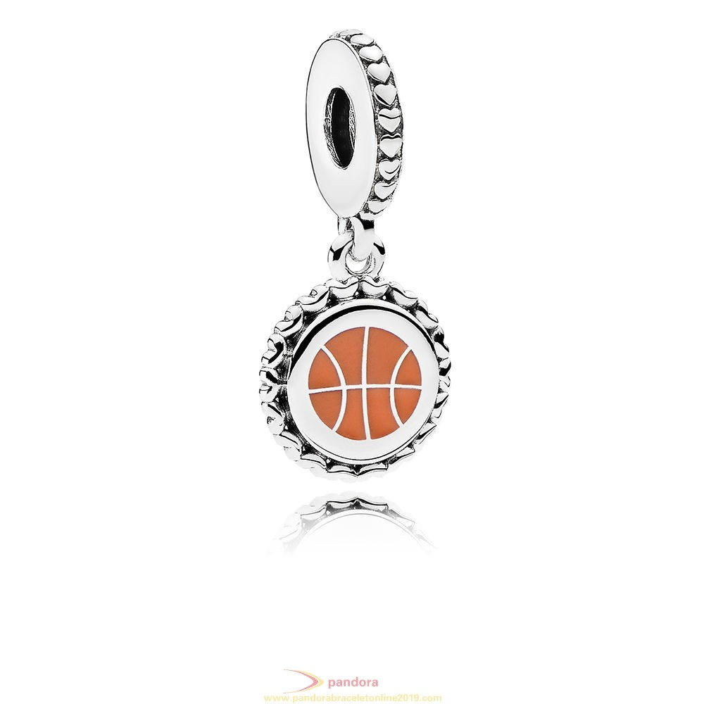 Find Pandora Jewelry Basketball Dangle Charm Mixed Enamel