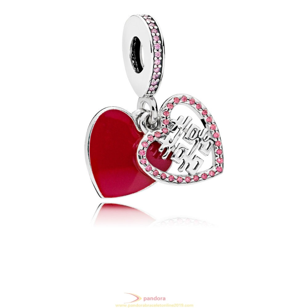 Find Pandora Jewelry Double Happiness Heart Hanging Charm